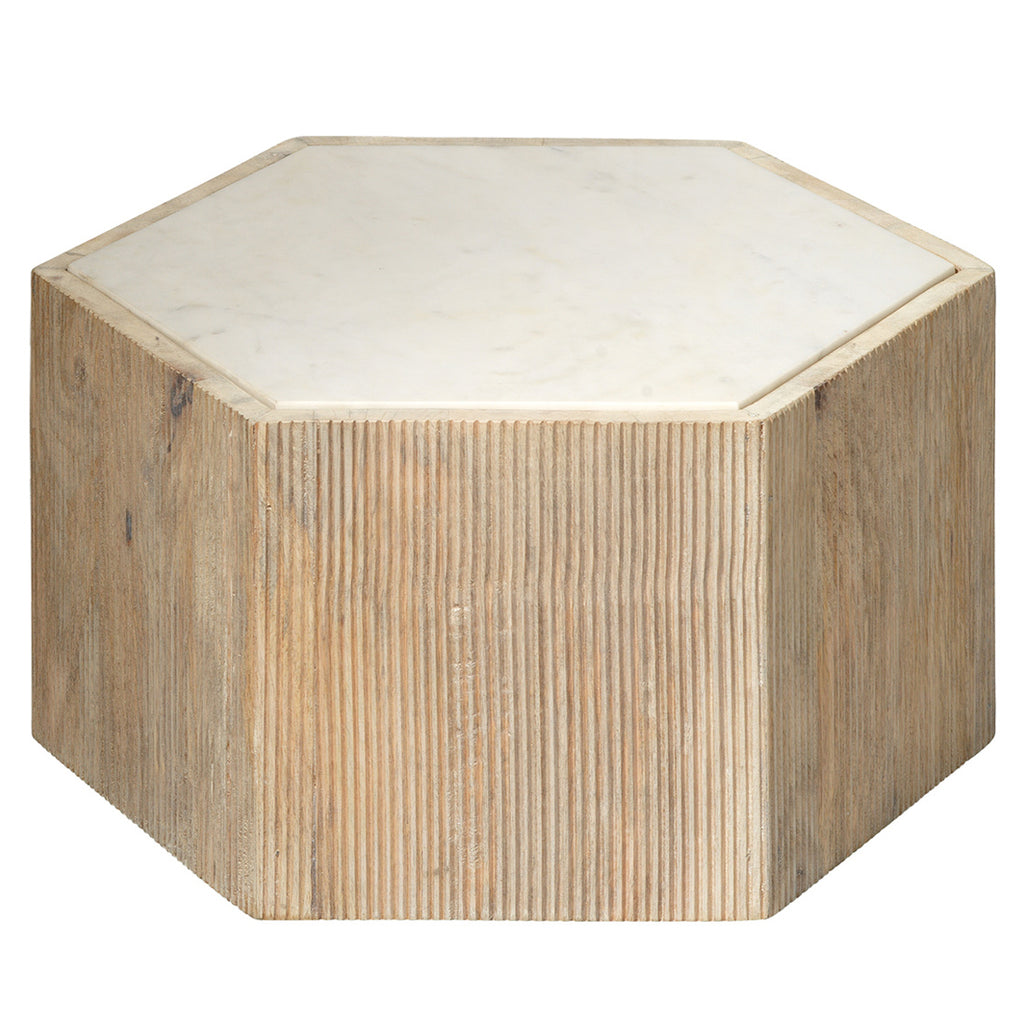 Jamie Young Argan Hexagon Side Table
