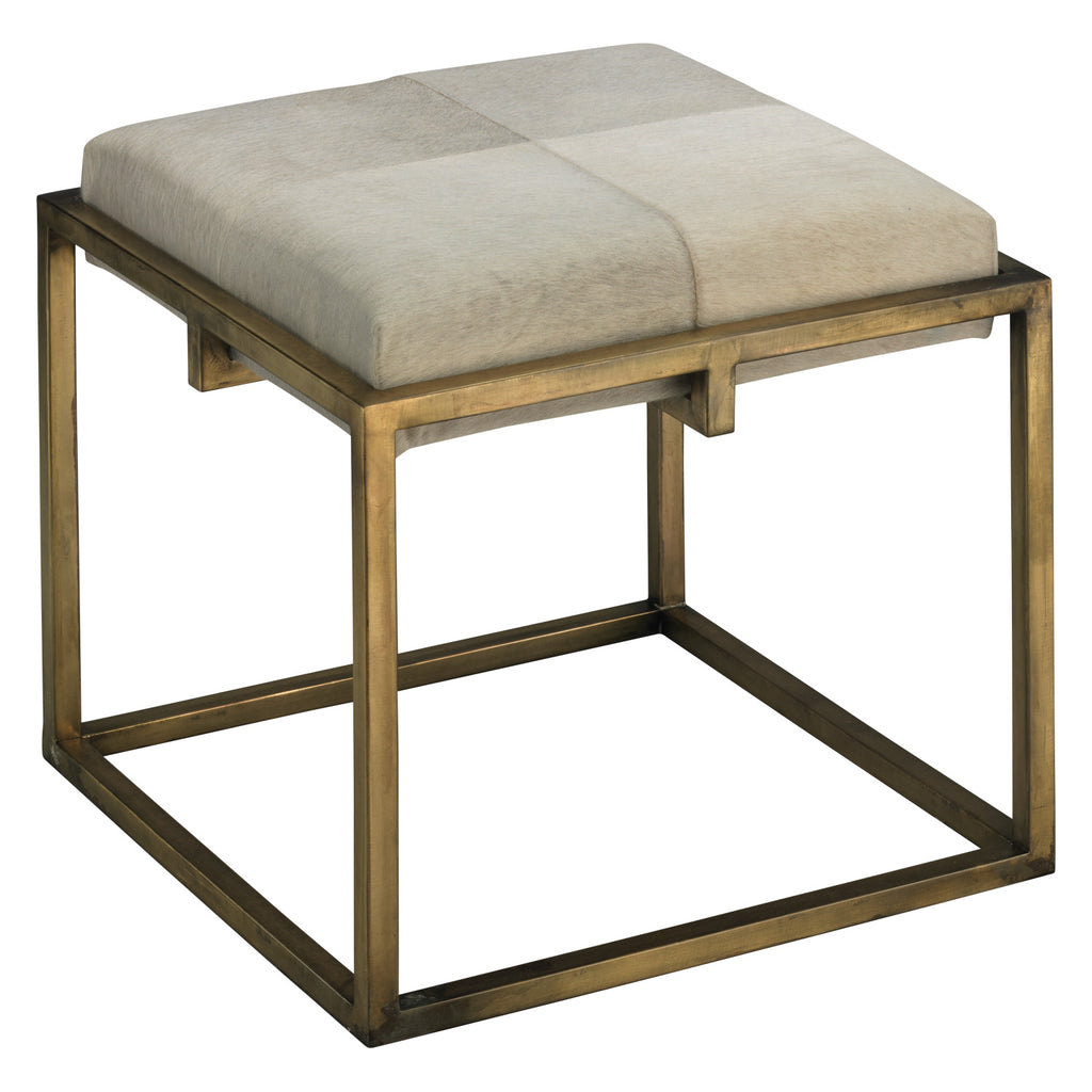 Jamie Young Shelby Stool Antique Brass