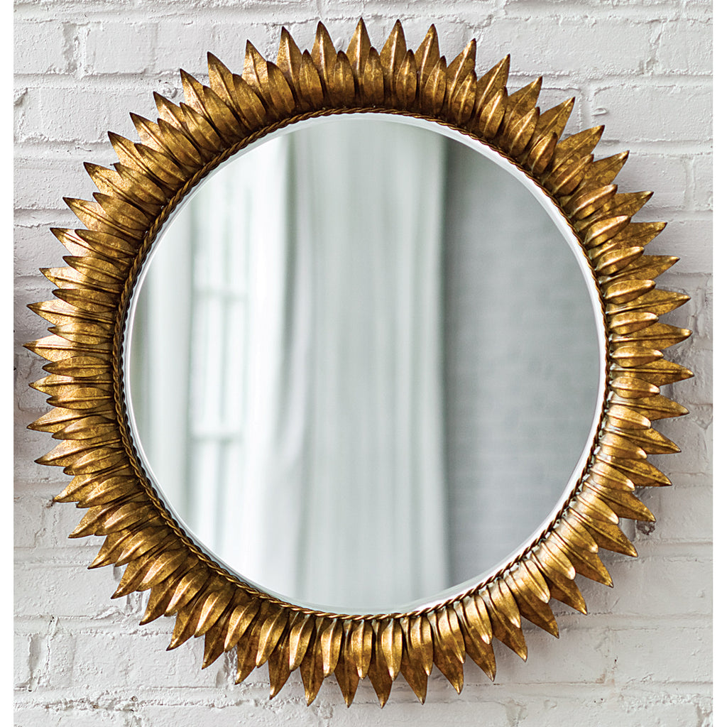 Regina Andrew Sun Flower Antique Gold Wall Mirror