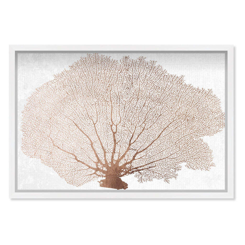 Oliver Gal Copper Coral Fan Framed Wall Art