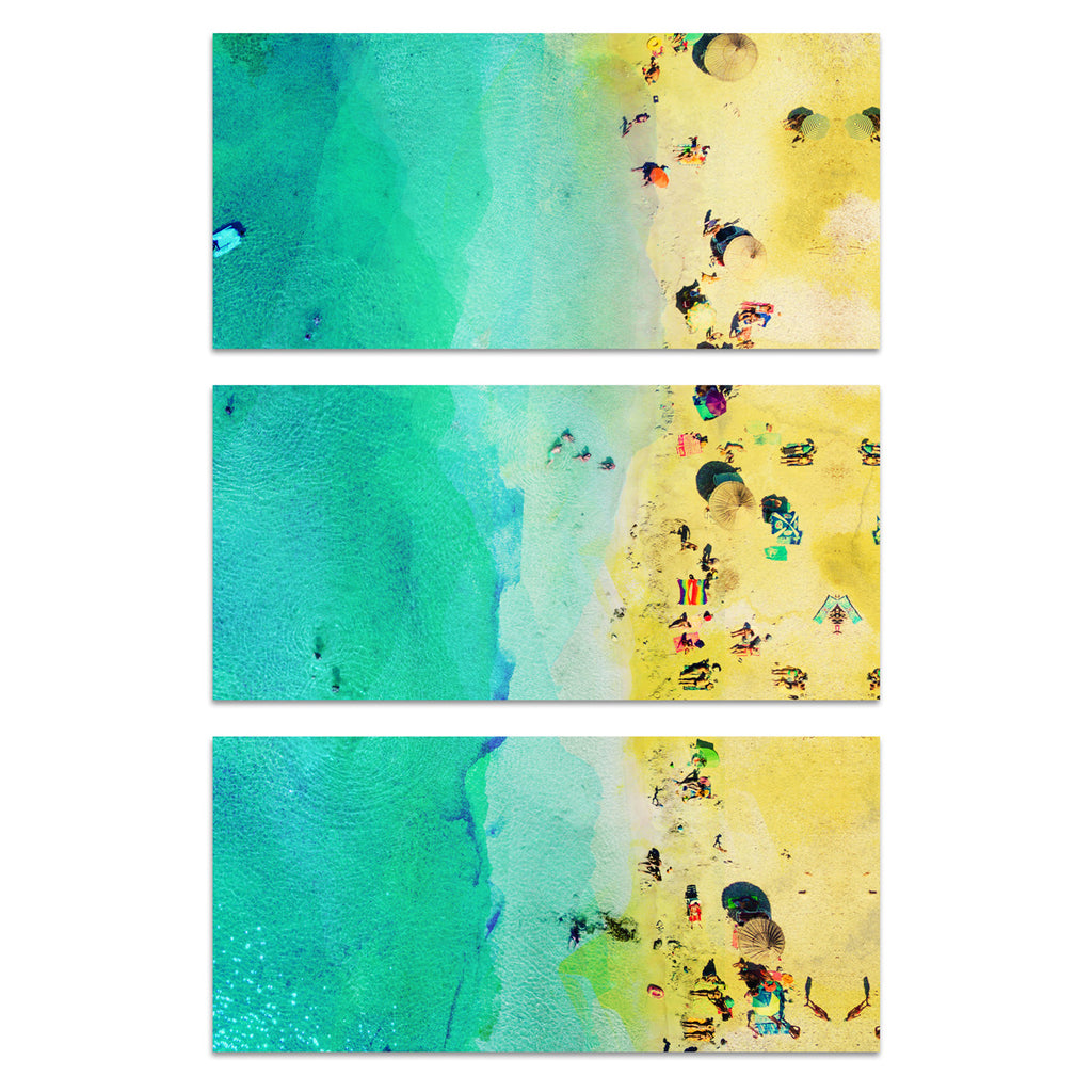 Oliver Gal Italian Summer Sun Triptych Canvas Wall Art Set of 3