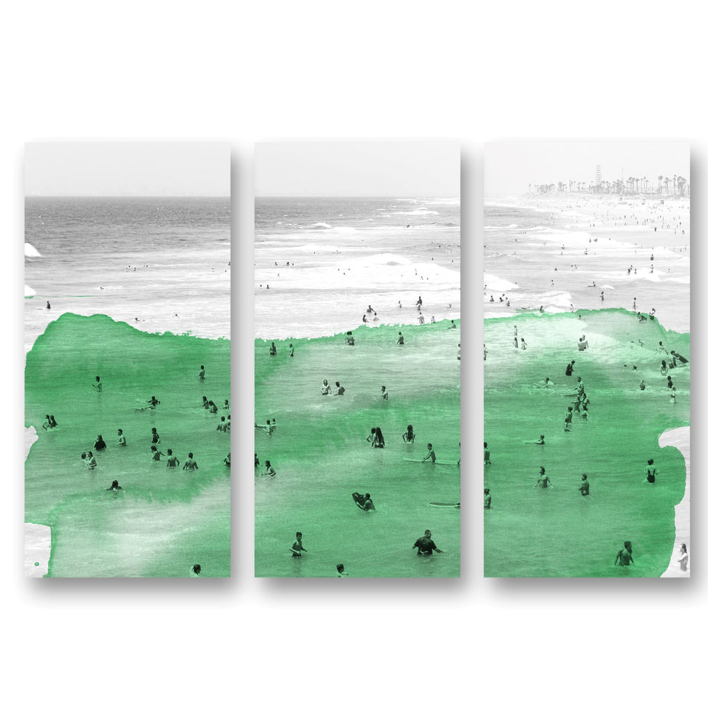 Oliver Gal New Beach Day Triptych Canvas Wall Art Set of 3