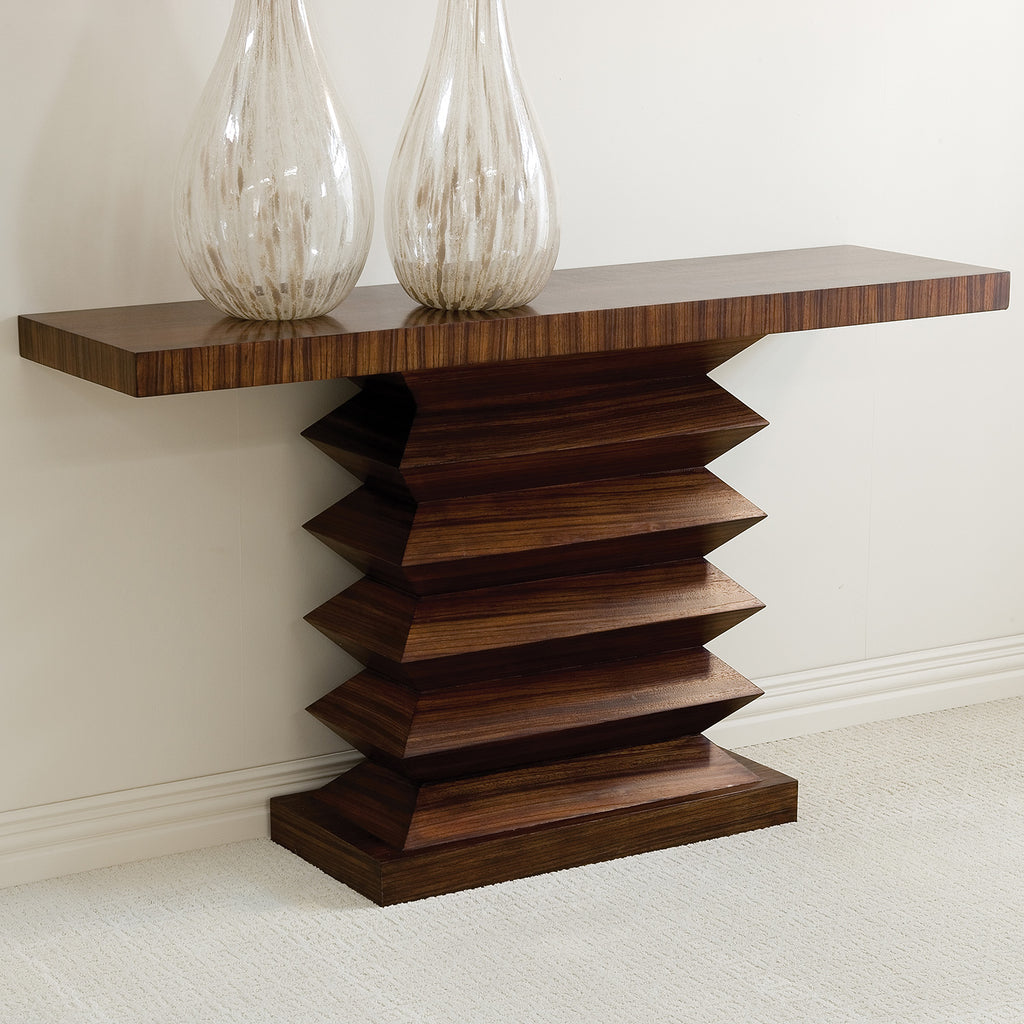 Global Views Zig Zag Console Table