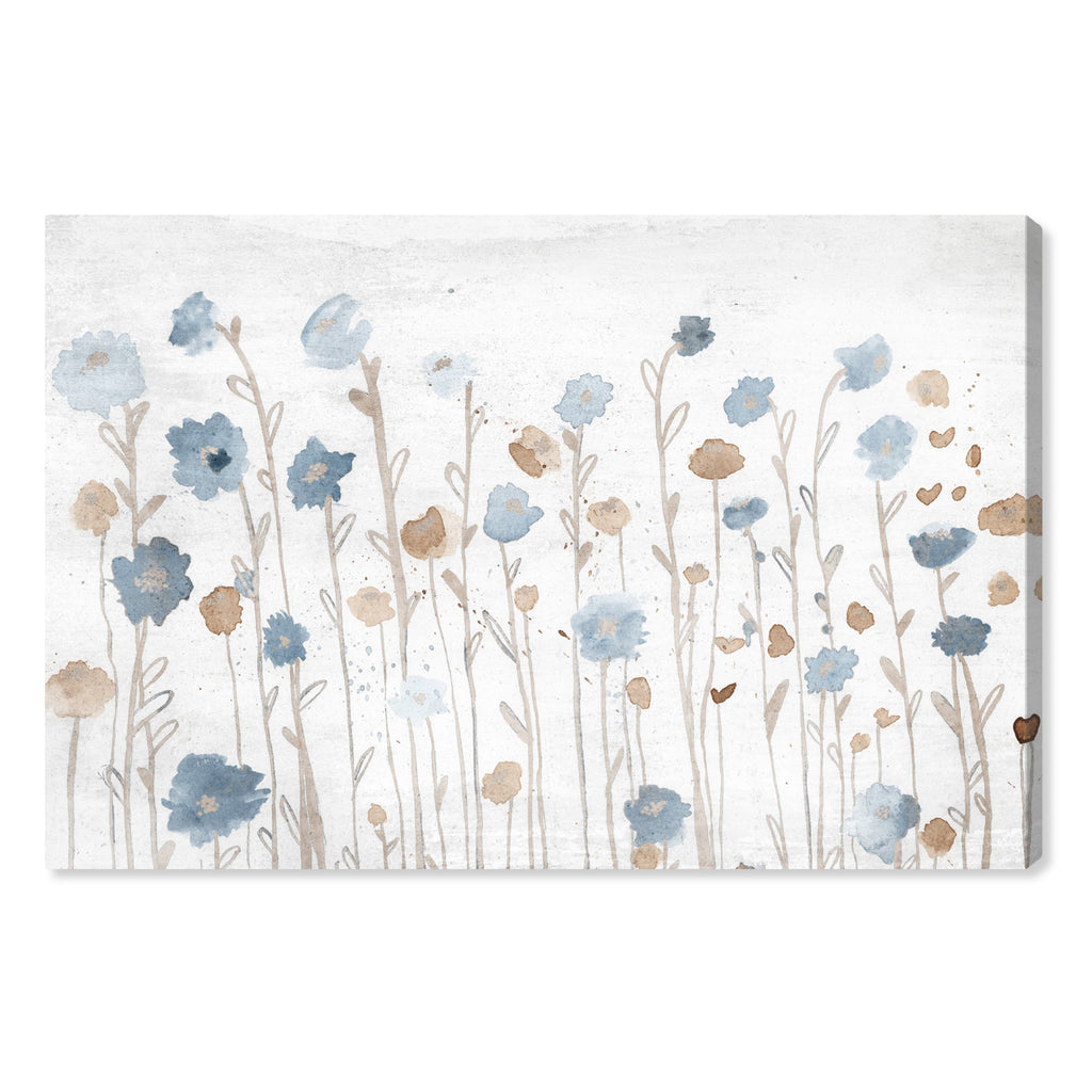 Oliver Gal Beautiful Growth Light Blue Canvas Wall Art