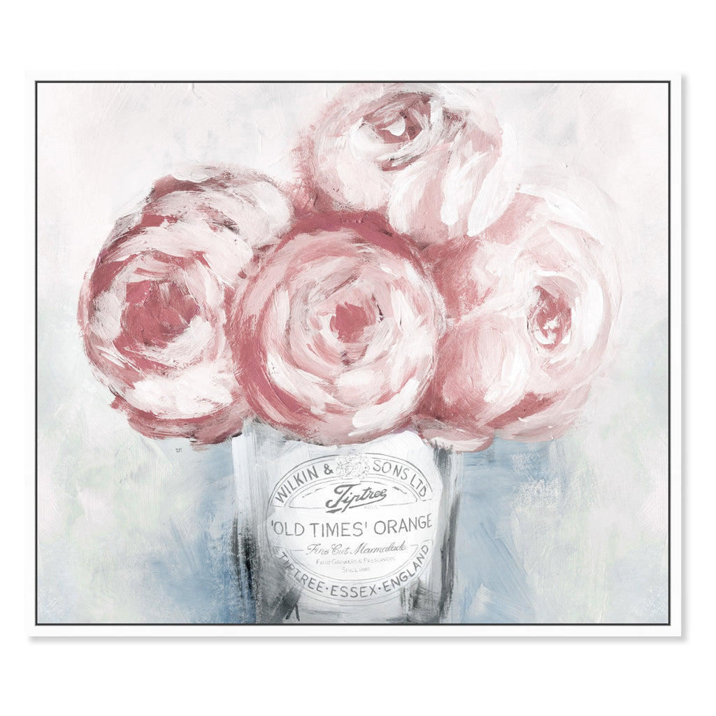 Oliver Gal Peony Jam Framed Canvas Wall Art