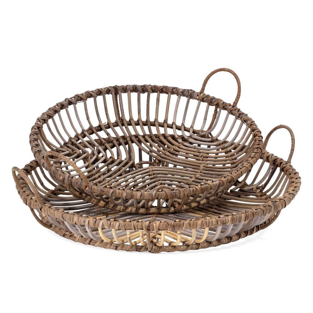 Fermo Rattan Tray Set of 2