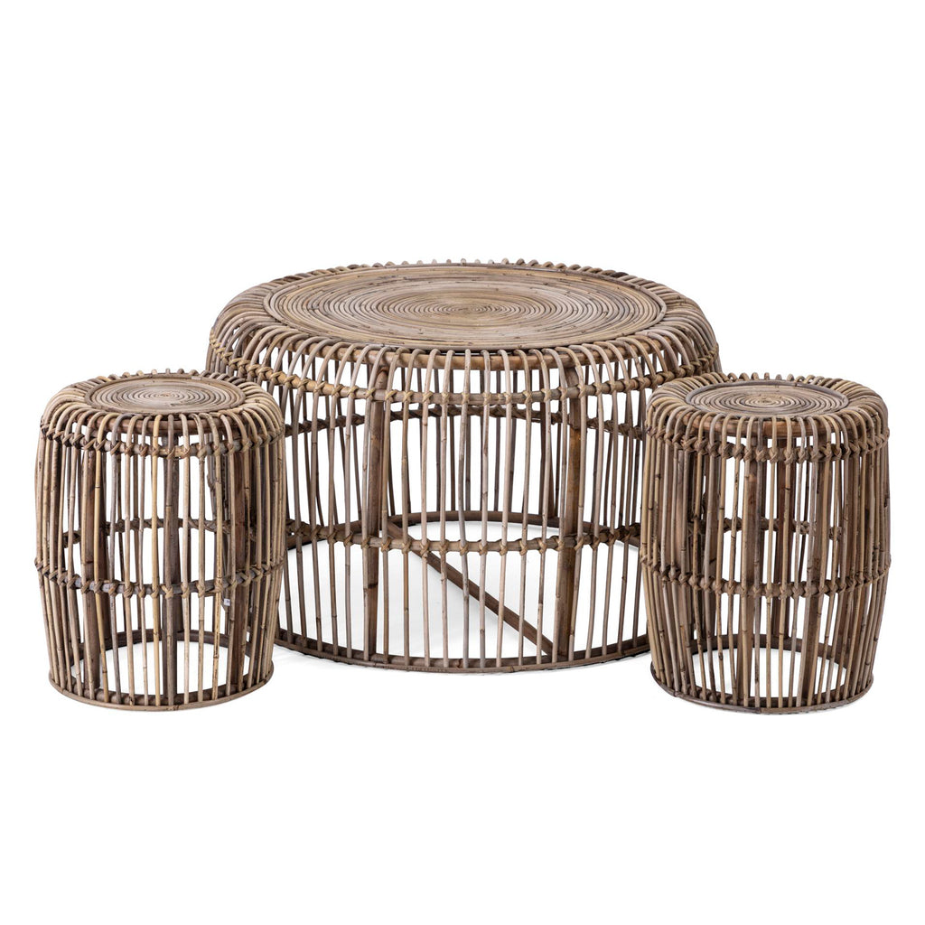 Fermo Rattan Coffee Table Set of 3