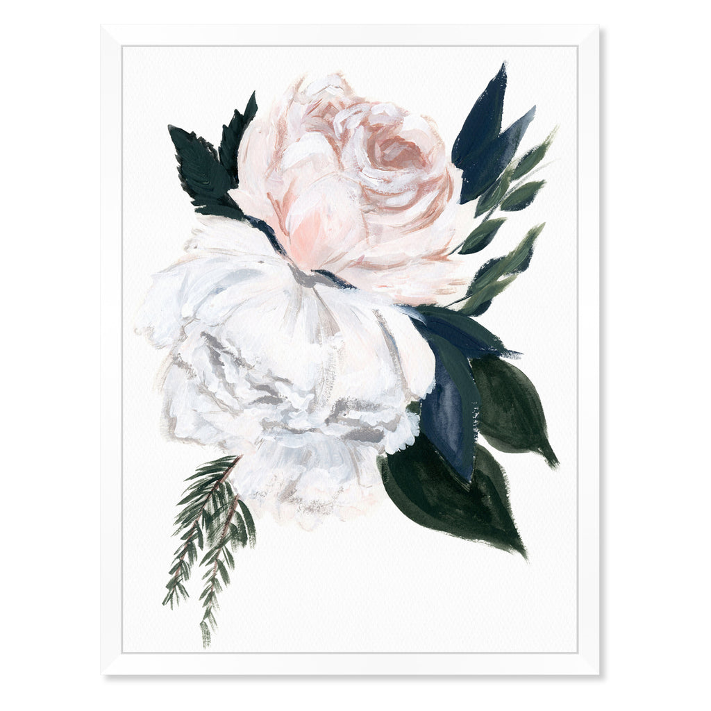 Oliver Gal Rustic Peony Bouquet Framed Wall Art