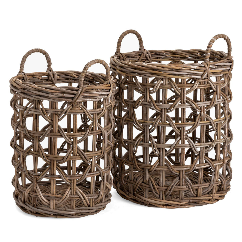 Jouett Rattan Basket Set of 2