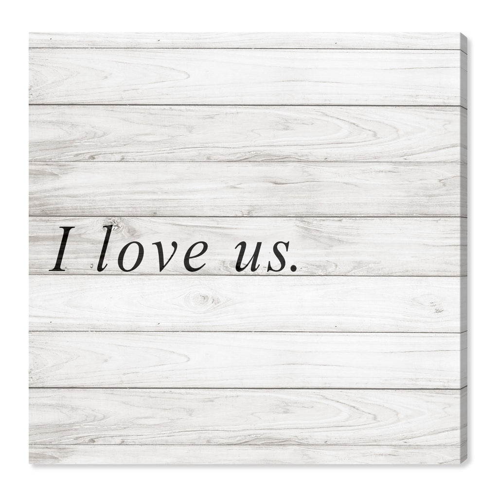 Oliver Gal I Love Us Square Canvas Wall Art