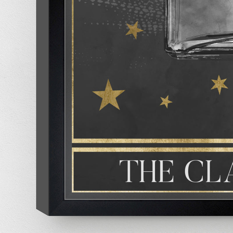 Oliver Gal The Classic Scent Tarot Grey Framed Wall Art