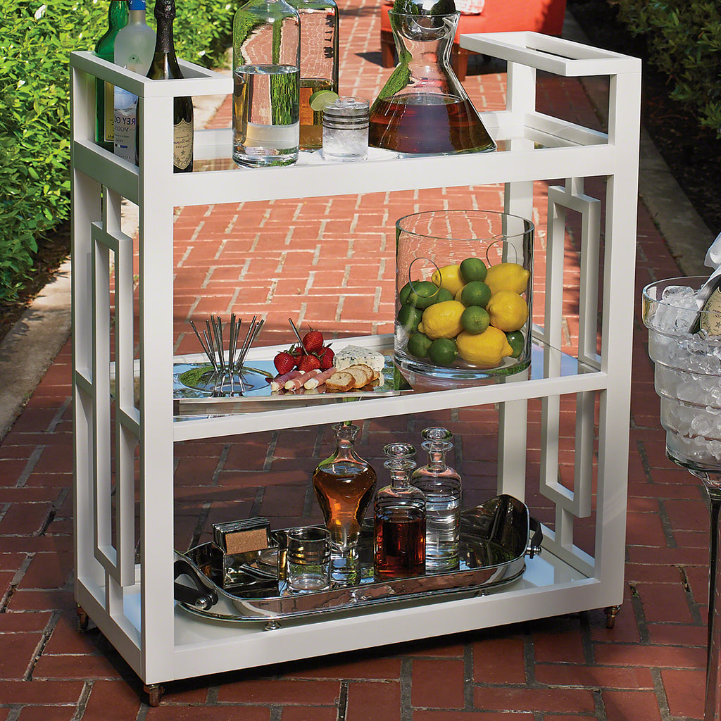 Global Views Grid Block Bar Cart