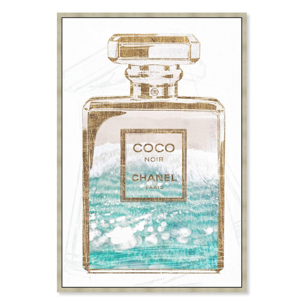 Oliver Gal Coco Water Love Framed Canvas Wall Art