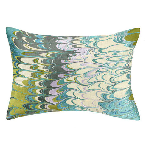Mad Marbled Embroidered Throw Pillow
