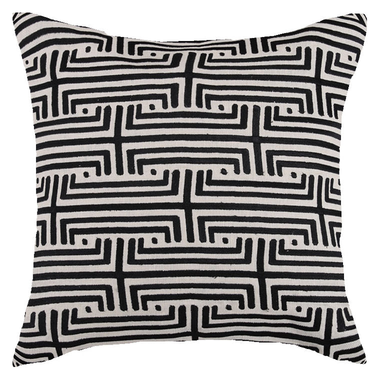 Transit Graphite Embroidered Throw Pillow