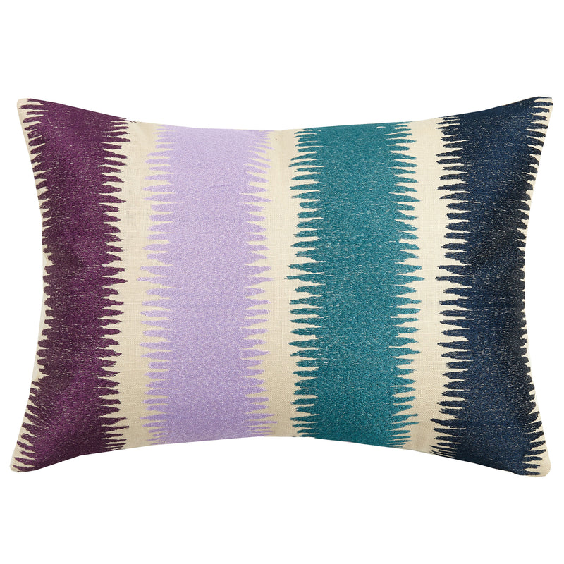 Gamut Embroidered Throw Pillow