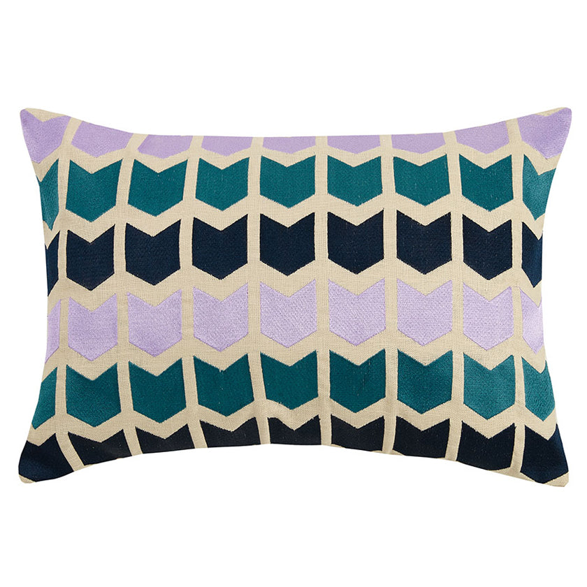Arrowed Embroidered Throw Pillow