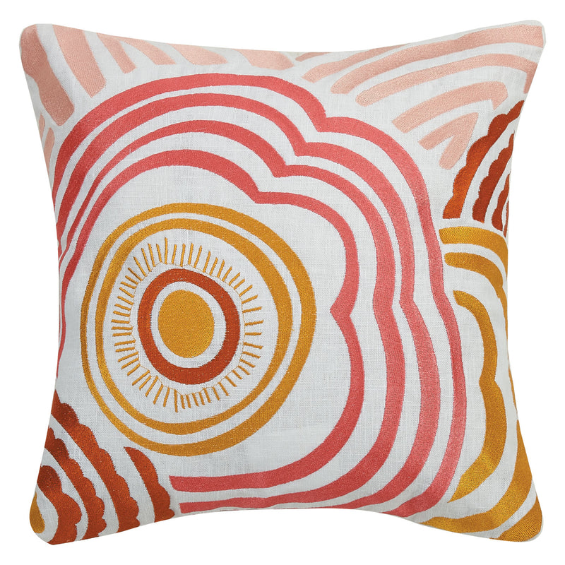 Elizabeth Olwen Ripple Embroidered Throw Pillow