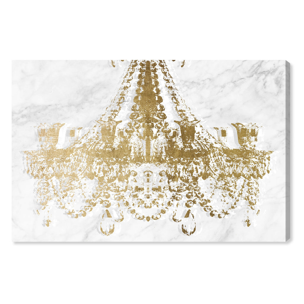 Oliver Gal Dramatic Entrance Marble & Gold Canvas Wall Art
