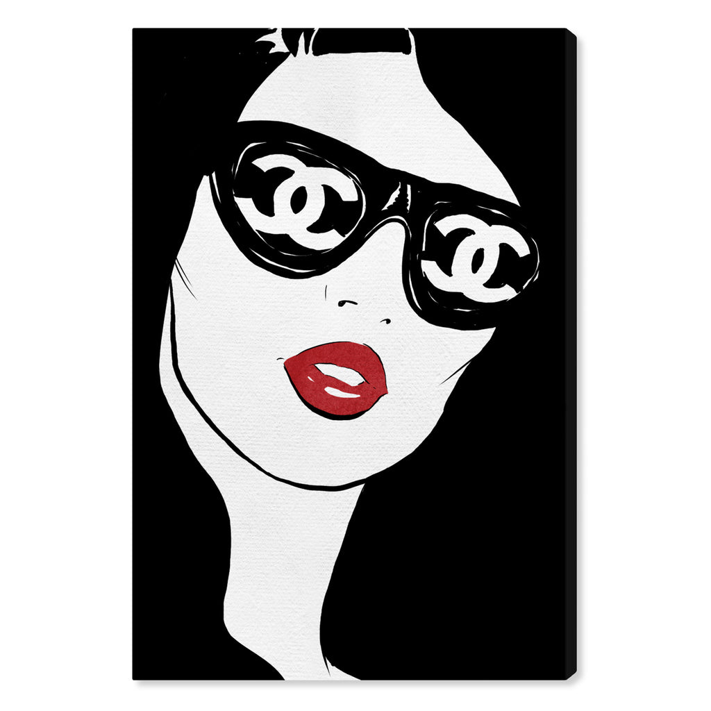 Oliver Gal Sunglasses Flare Canvas Wall Art