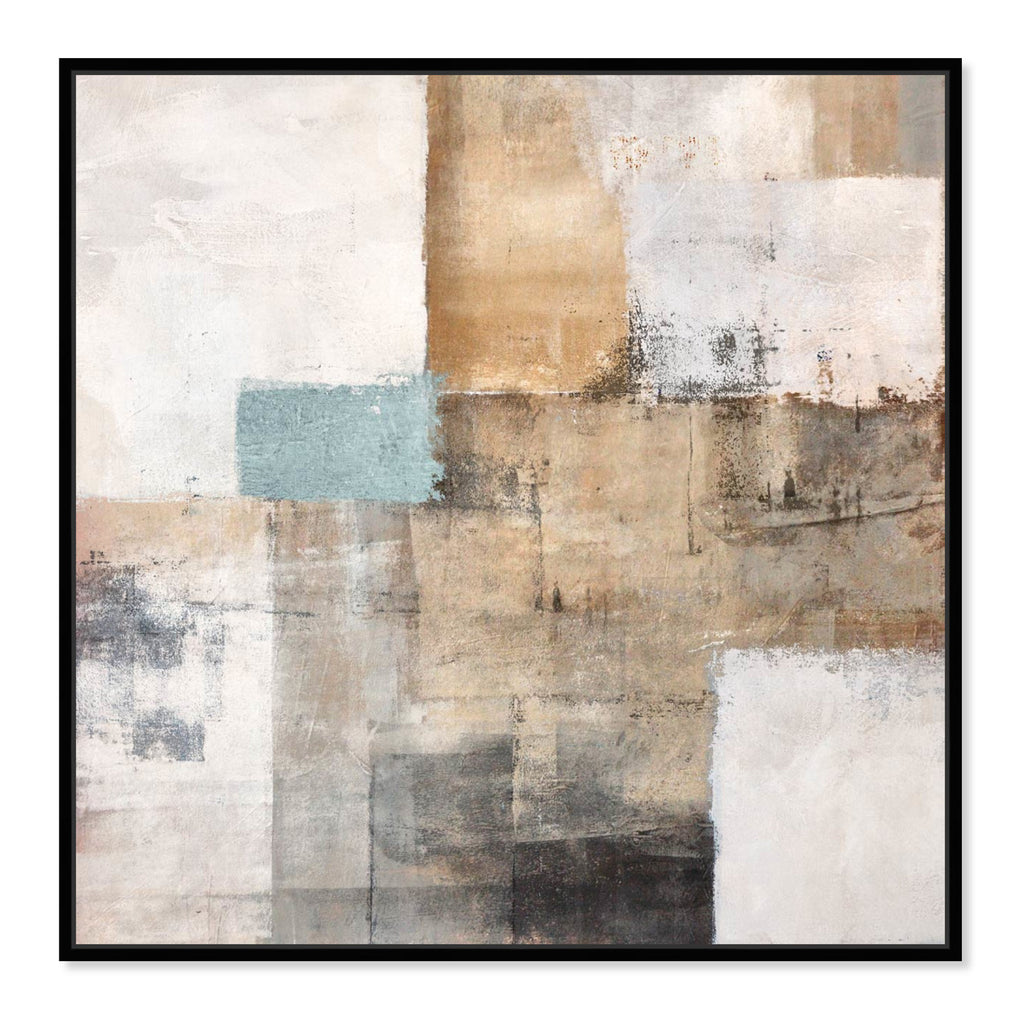 Oliver Gal Sai Urban Geometric Framed Canvas Wall Art