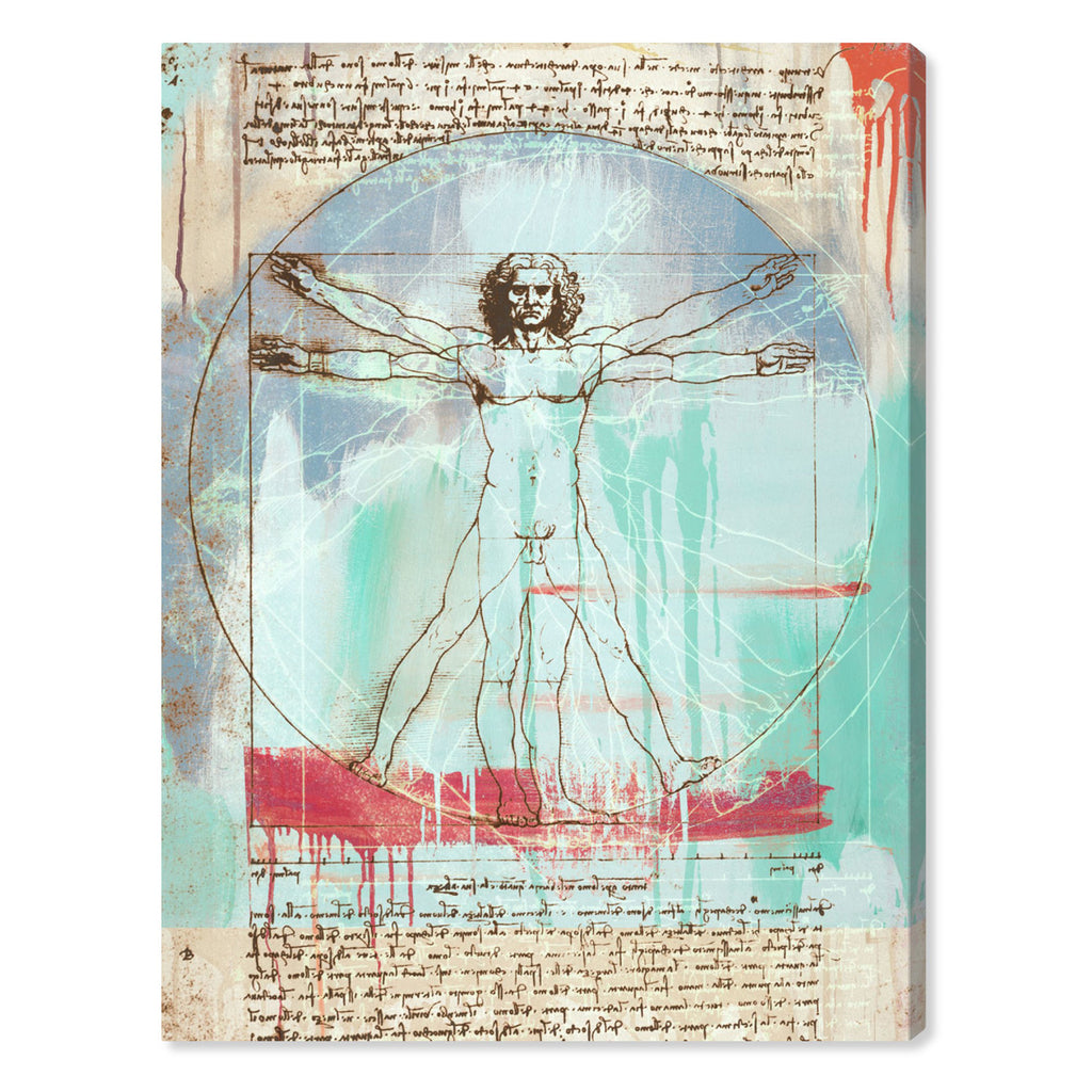 Oliver Gal Sai Vitruvian Man Canvas Wall Art