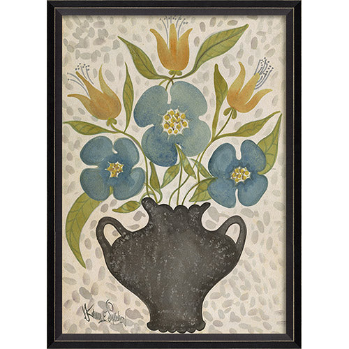 Floating Peals Vivid Petals Framed Print