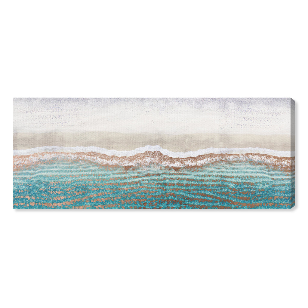 Oliver Gal Rose Gold Sandy Beaches Canvas Wall Art