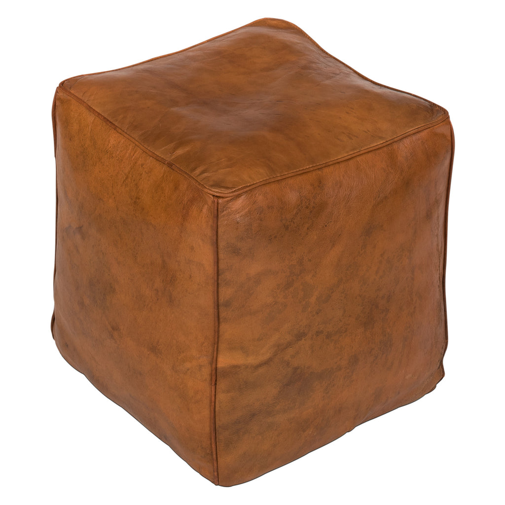 Braker Leather Pouf