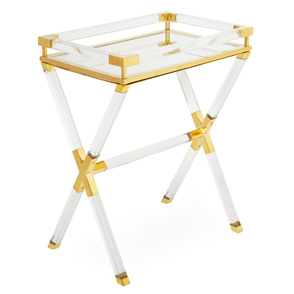 Jonathan Adler Jacques Brass Tray Table