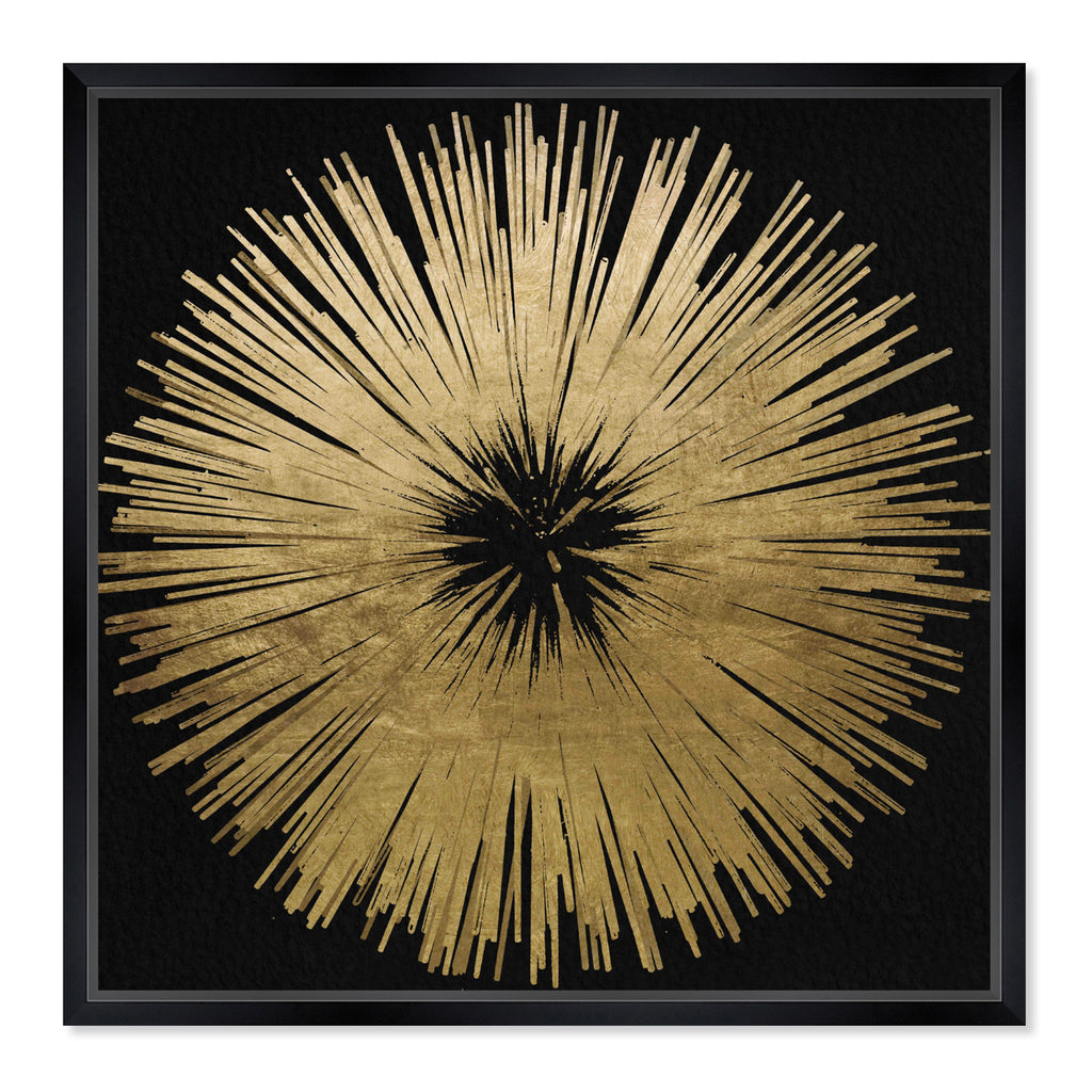 Oliver Gal Sunburst Golden Night Framed Wall Art