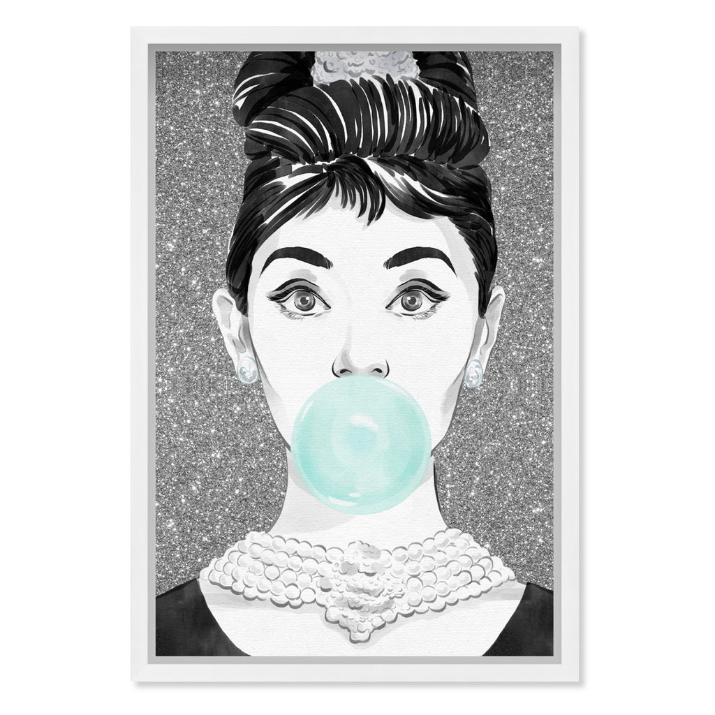 Oliver Gal Bubblegum Star Framed Wall Art