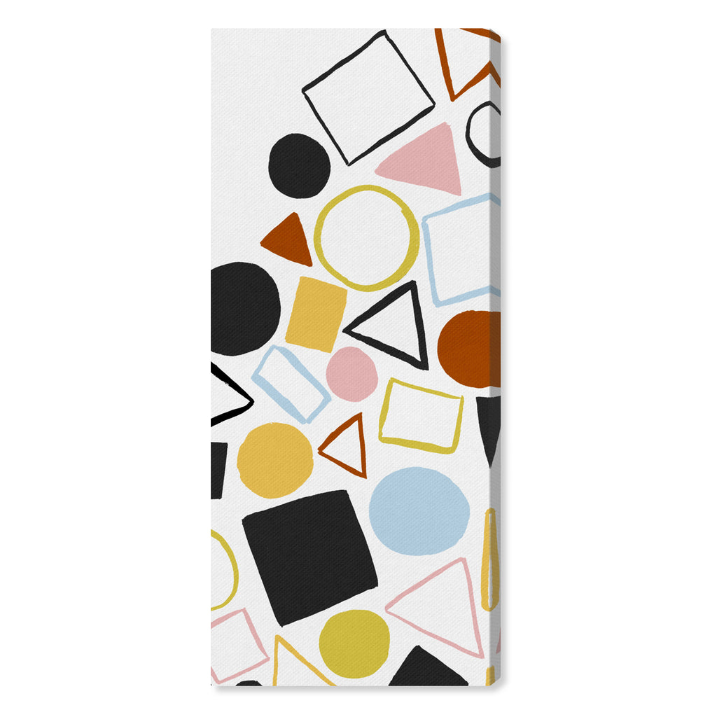 Oliver Gal Geometric Game Colorful Canvas Wall Art
