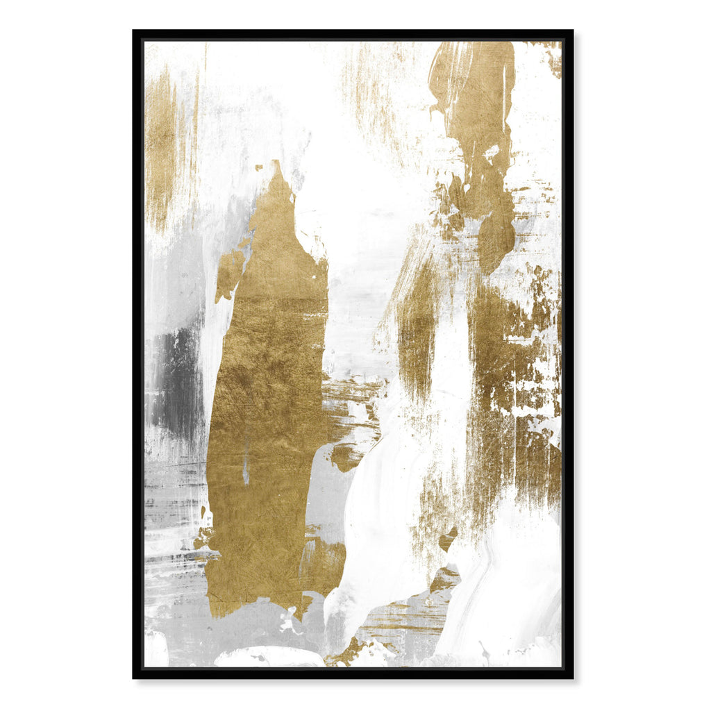 Oliver Gal A Dash of Gold Framed Canvas Wall Art