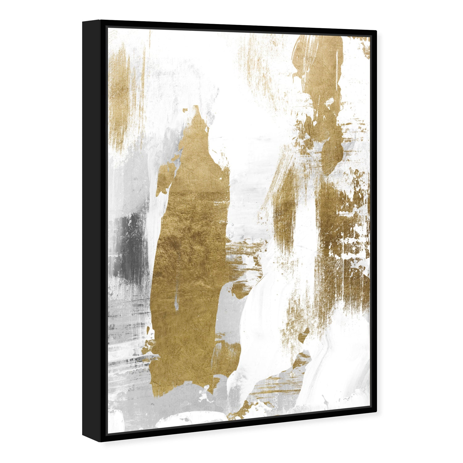 Oliver Gal A Dash of Gold Framed Canvas Wall Art – Paynes Gray