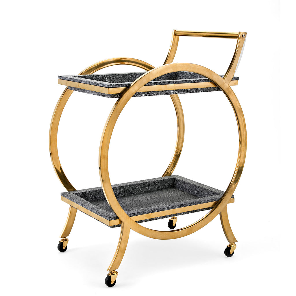 Rance Gray Bar Cart