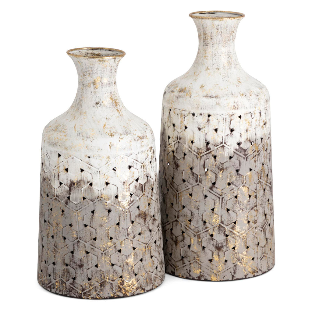 Ronmar Metal Vase Set of 2