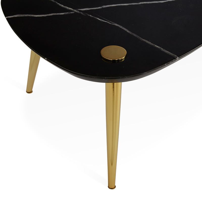 Jonathan Adler Triangle Marble Small Table