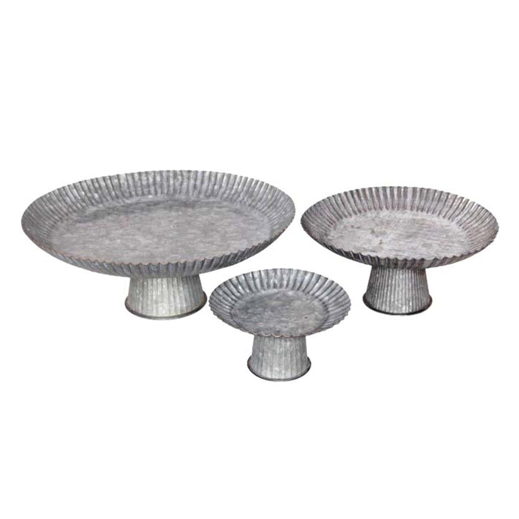 Sarah Metal Pedestal Set of 3