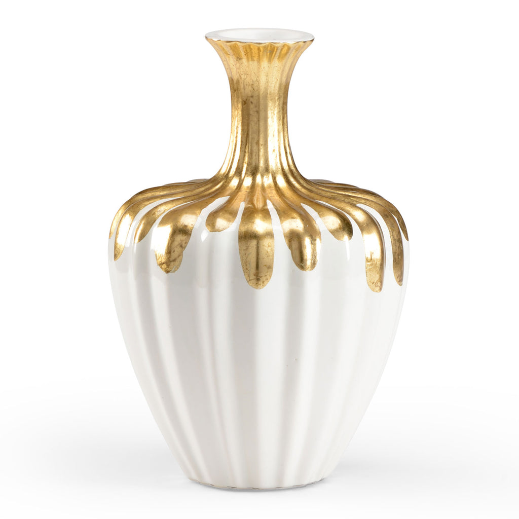 Fredrick Cooper Gold Neck Bottle Vase