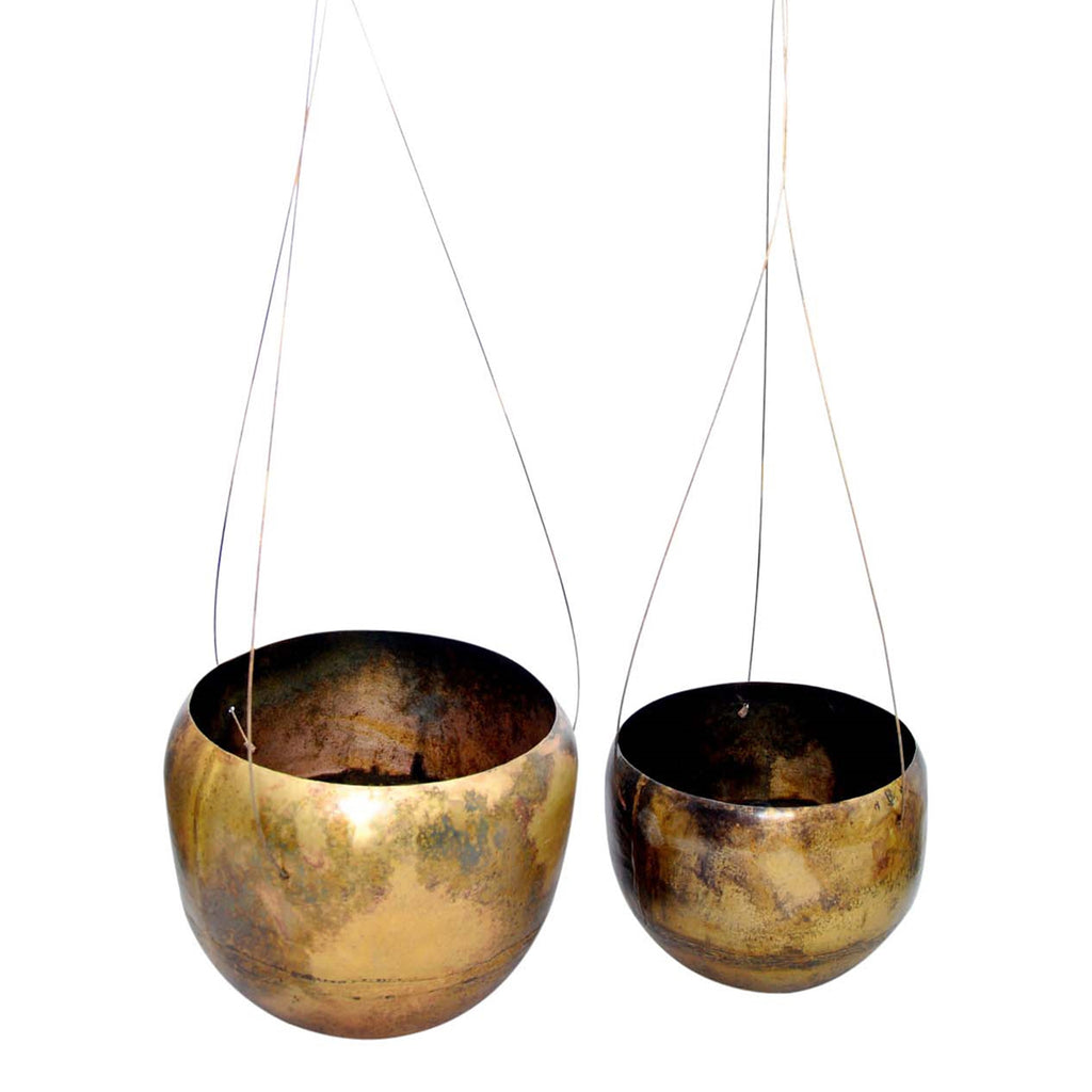 Oleander Deep Hanging Planter Set of 2