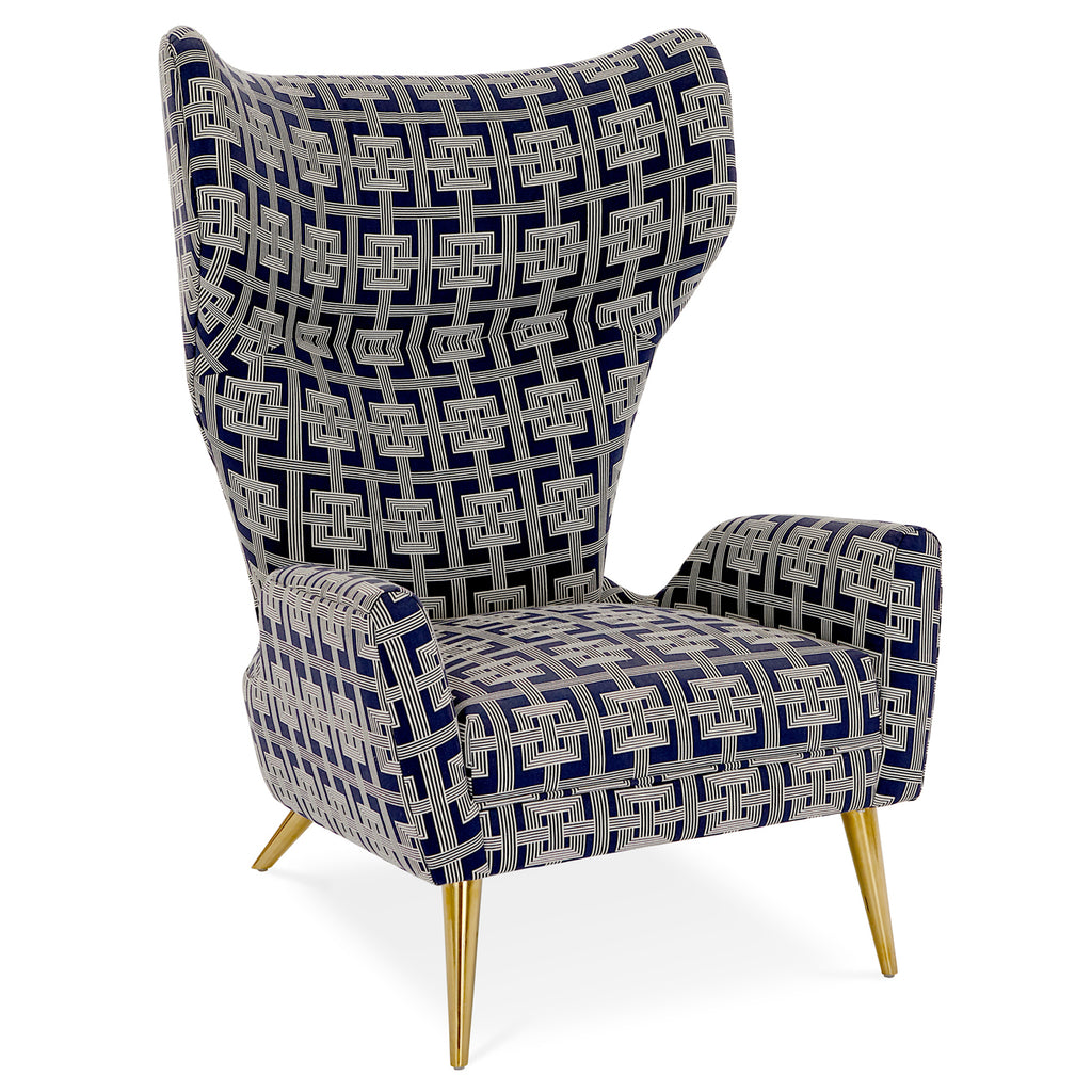 Jonathan Adler Milano Links Wing Chair