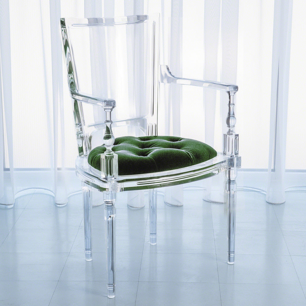 Global Views Marilyn Acrylic Arm Chair