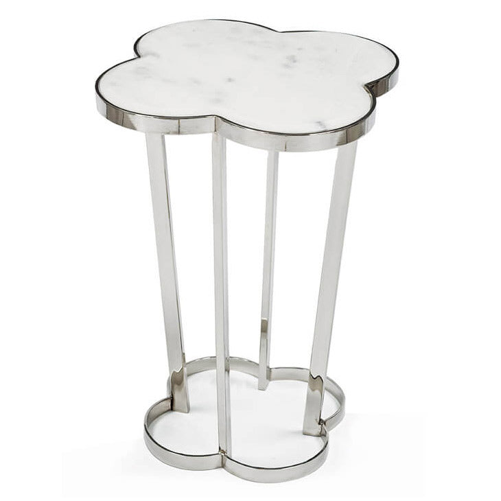 Regina Andrew Clover Polished Nickel Side Table
