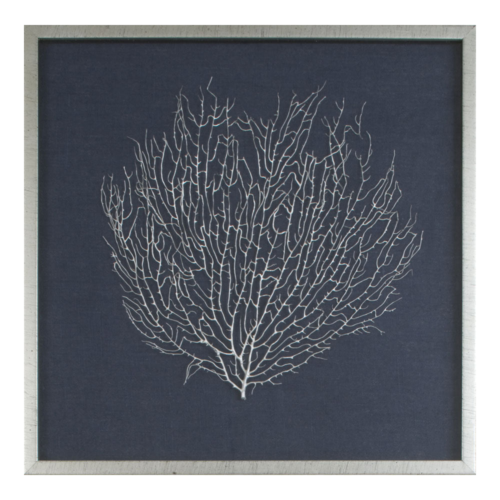 Mirror Image Home Silver Sea Fan Framed Wall Art