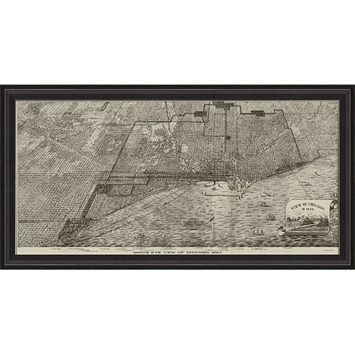 Chicago Map 1893 Framed Print
