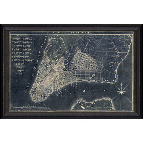 New York Map 1789 Framed Print