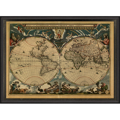 Map of the World 1664 Framed Print