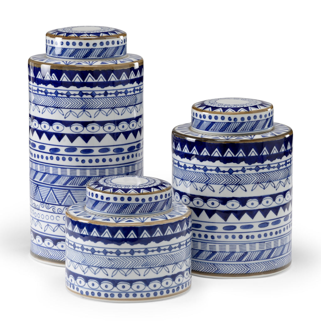 Wildwood Blue & White Canister Set of 3
