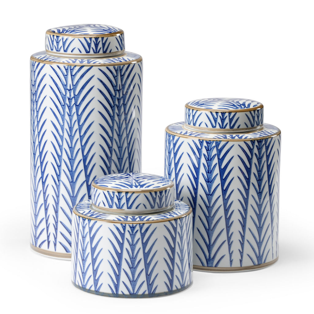 Wildwood Blue Fronds Canister Set of 2